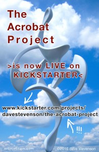 Fundraising begins today for The Acrobat Project, my sculpture for NYC Parks' Art in the Parks program! www.kickstarter.com/projects/davestevenson/the-acrobat-project