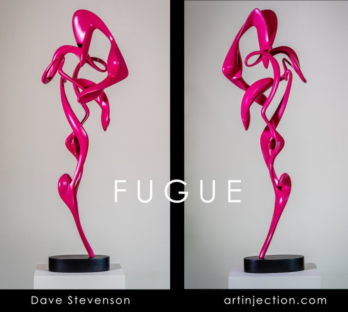 Fugue, steel & resin